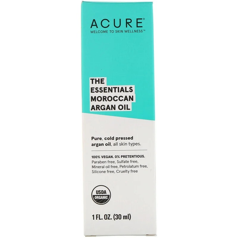 Acure, The Essentials Moroccan Argan Oil, 1 fl oz (30 ml) 4 PACK