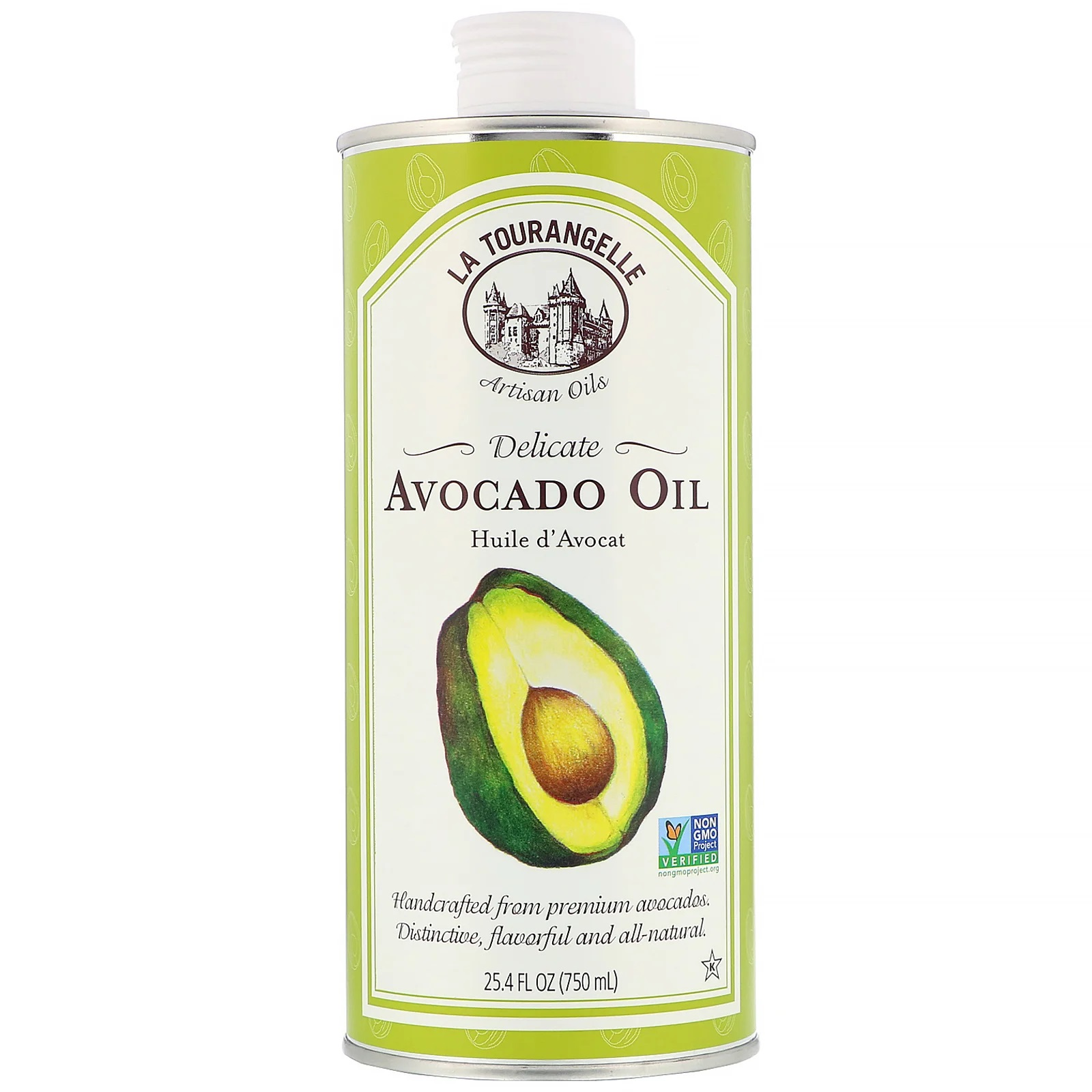 La Tourangelle, Delicate Avocado Oil, 25.4 fl oz (750 ml) 2 PACK