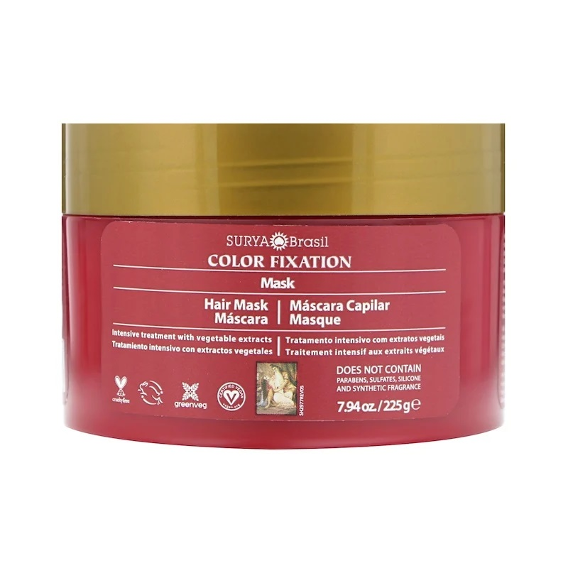 Surya Brasil, Color Fixation - Restorative Hair Mask, 7.6 fl oz (225 g) 2 PACK