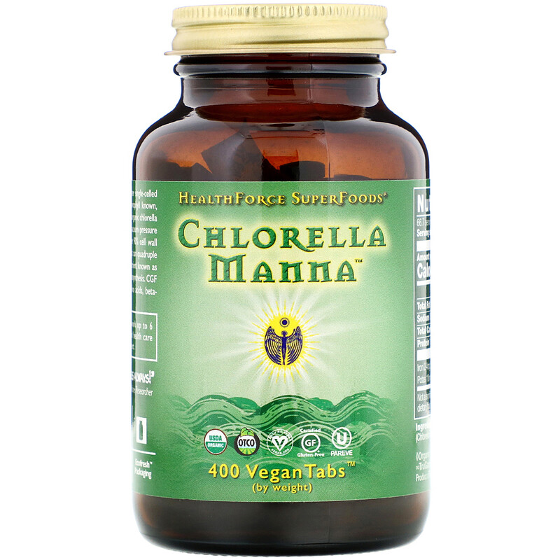 HealthForce Superfoods, Chlorella Manna, 400 Vegan Tablets