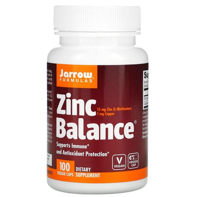 Jarrow Formulas, Zinc Balance, 100 Vegan Capsules