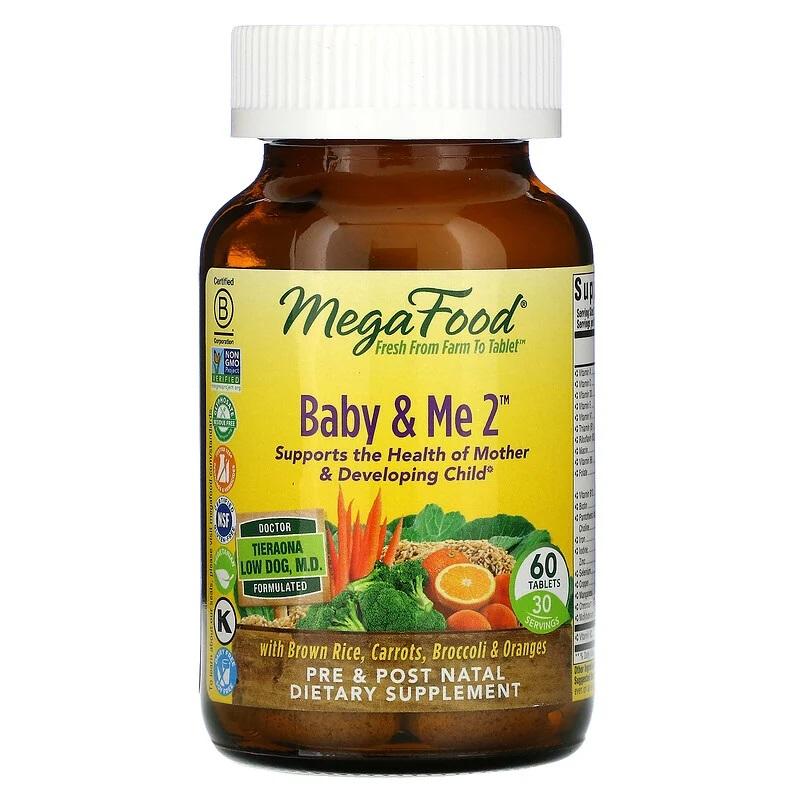 MegaFood, Baby, Me 2, 60 Vegan Tablets