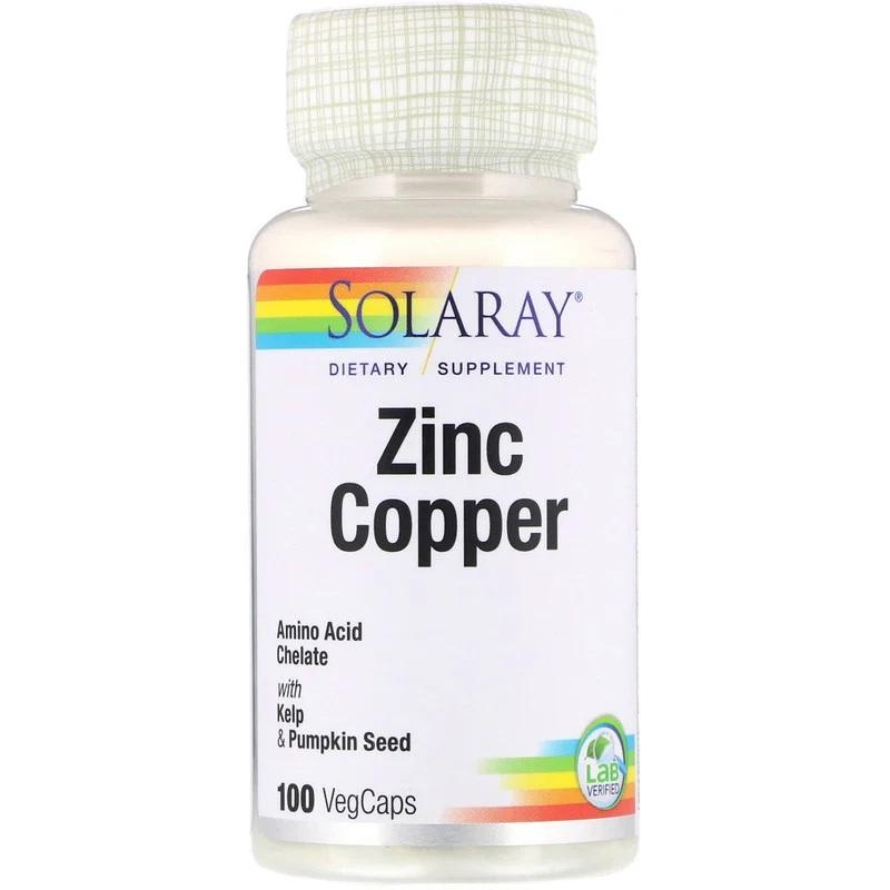 Solaray, Zinc Copper, 100 Vegan Capsules